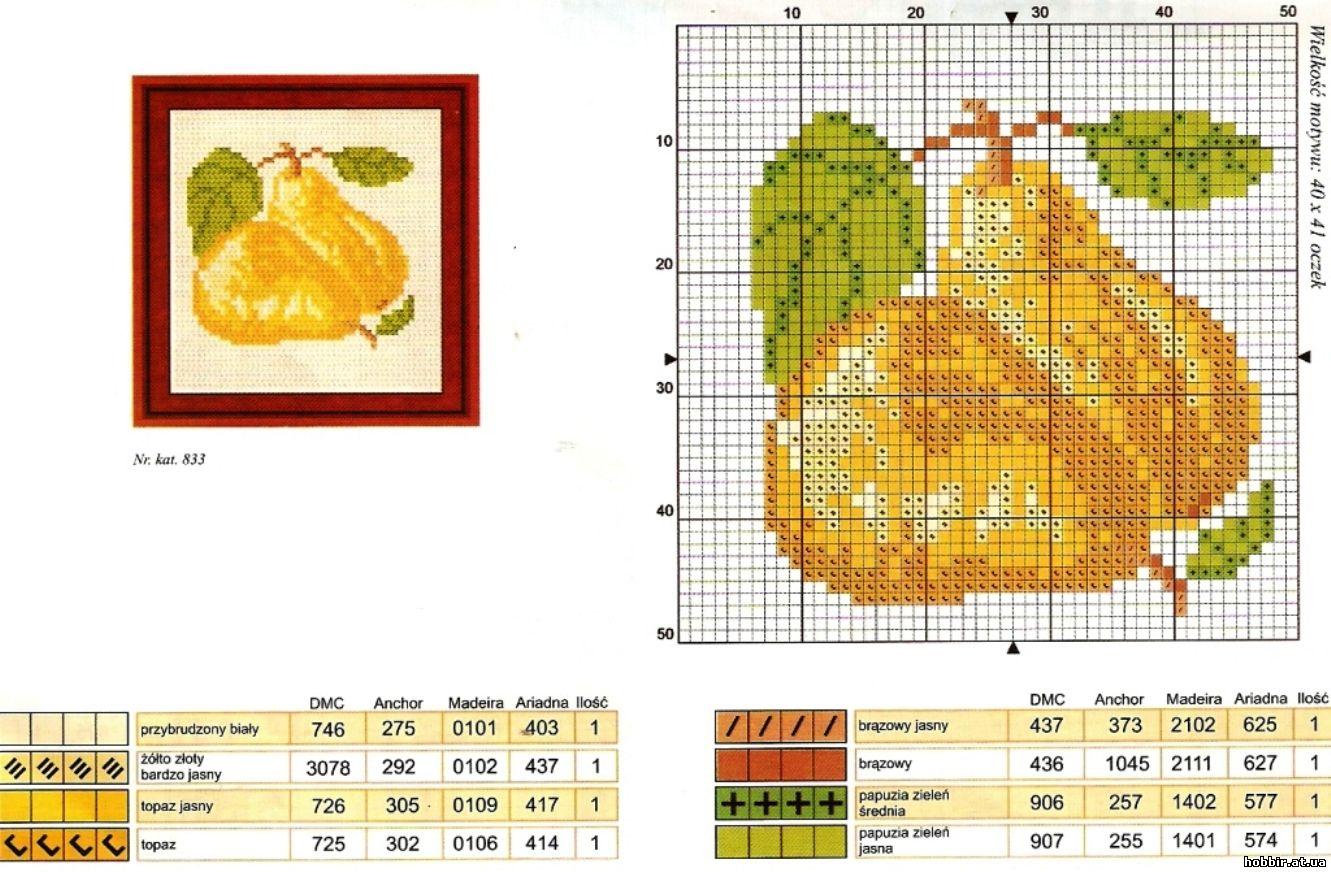 Схемы для вышивки крестиком фрукты 6