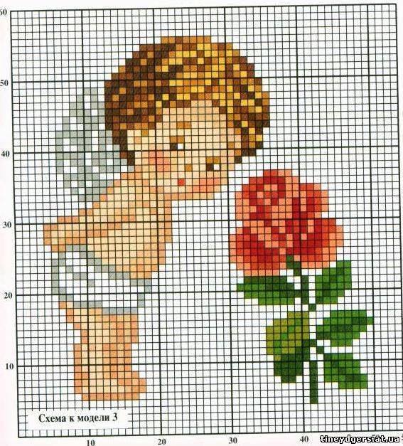 Вышивка крестом схемы ангелы и дети