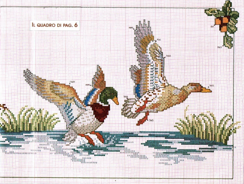Схему вышивки крестом охота 48