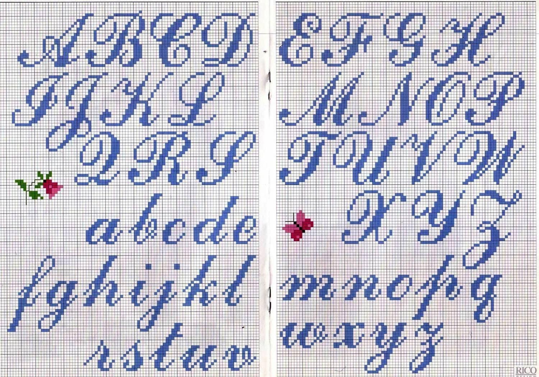 Вышивка букв Круг мастеров 41