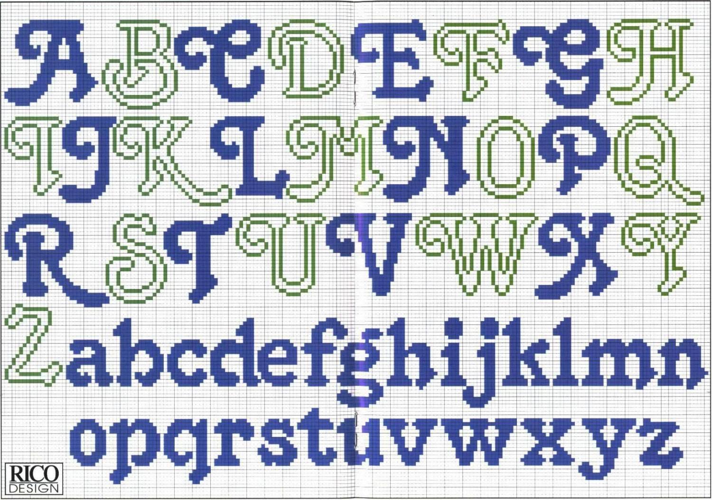 Схема букв английских крестом