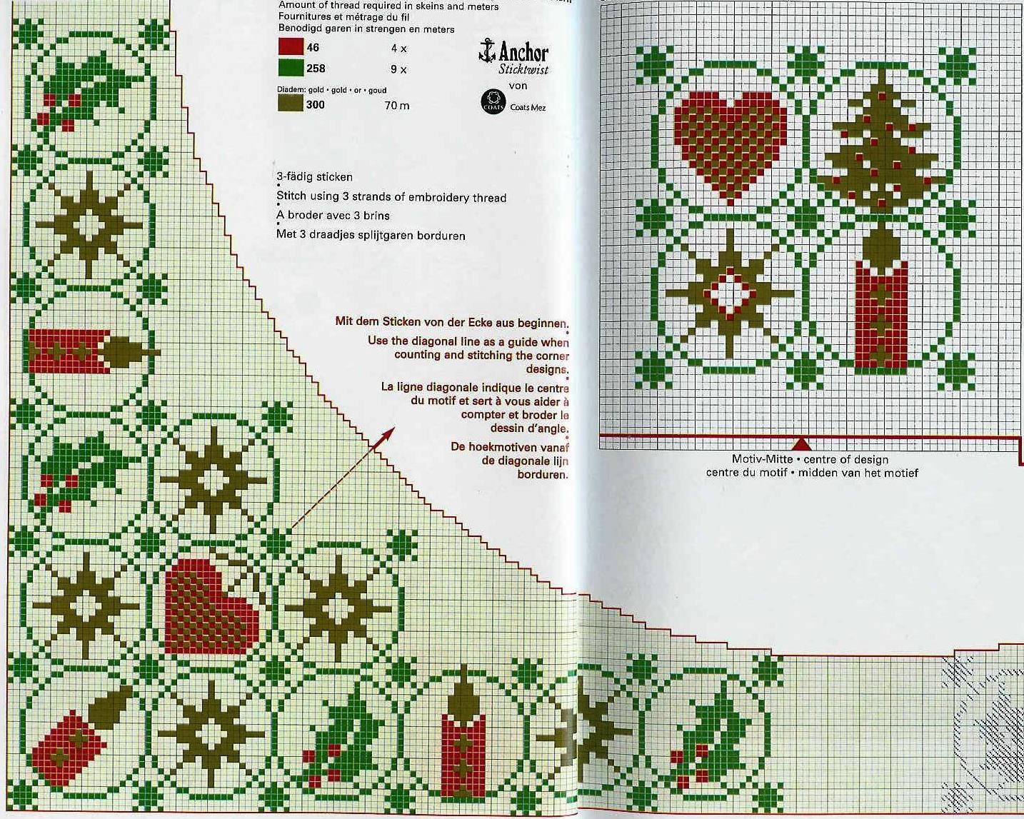 Новогодняя салфетка для вышивки 721