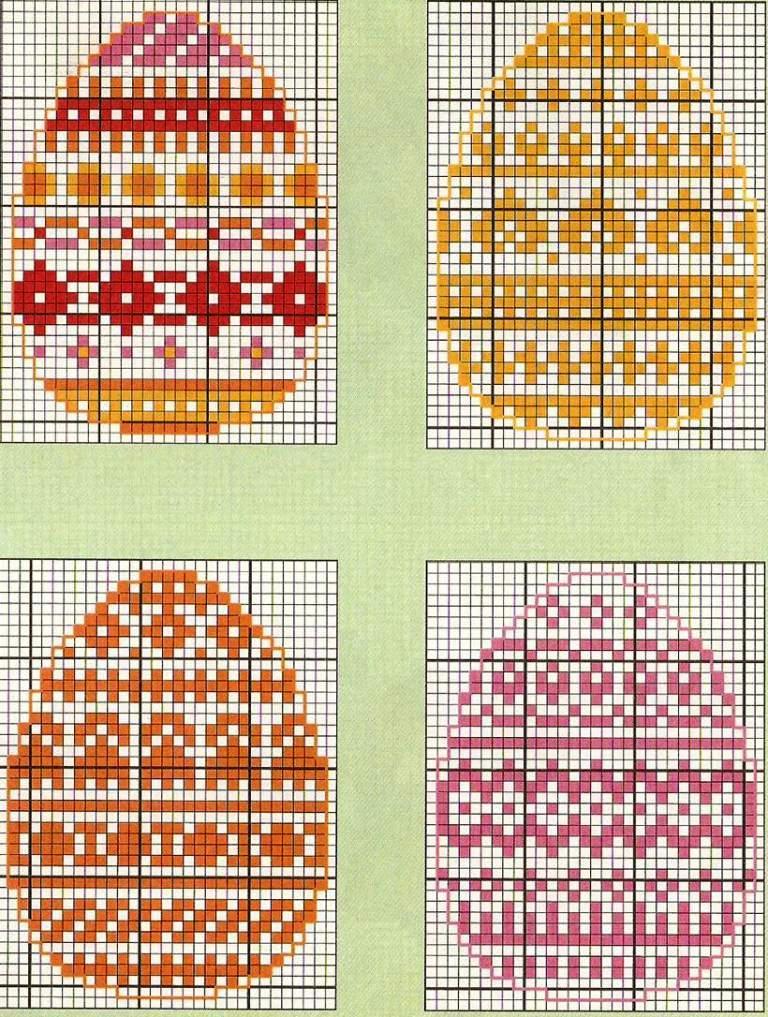 Вышивка крестом яйцо схема