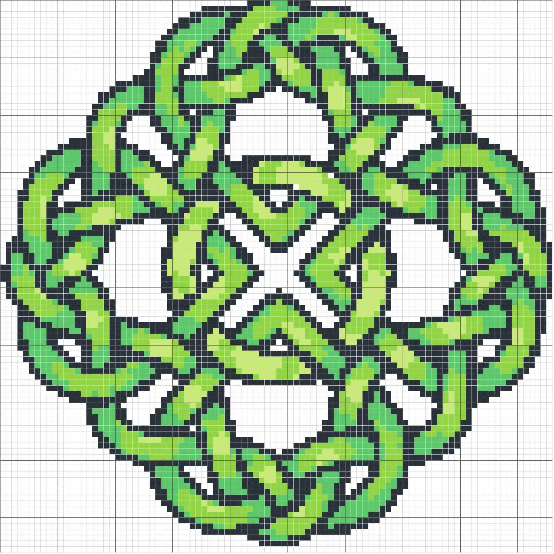 Вышивка крестом кельтские узоры 64