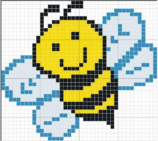 Пчелка схема для вышивки крестиком