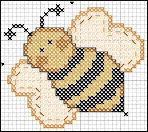 Вышивка крестом: пчёлы. Схемы