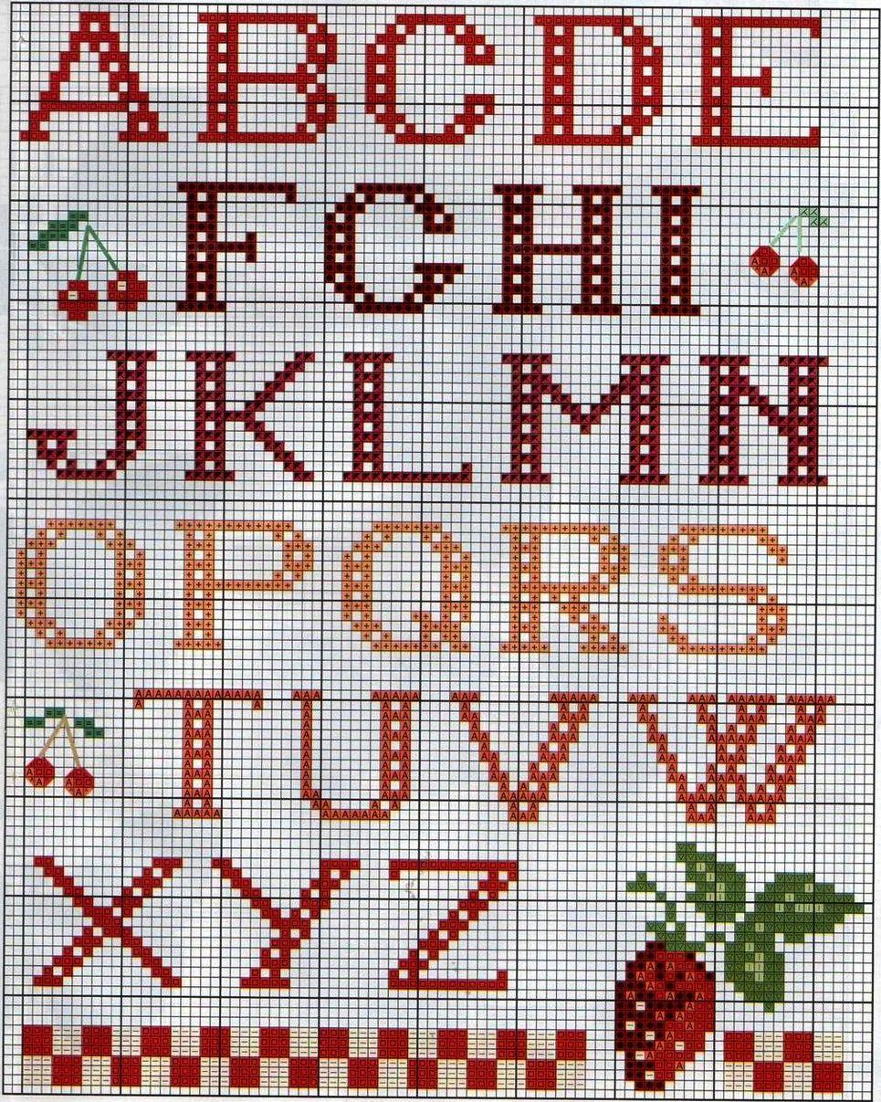 Алфавит вышивка крестом схемы 69