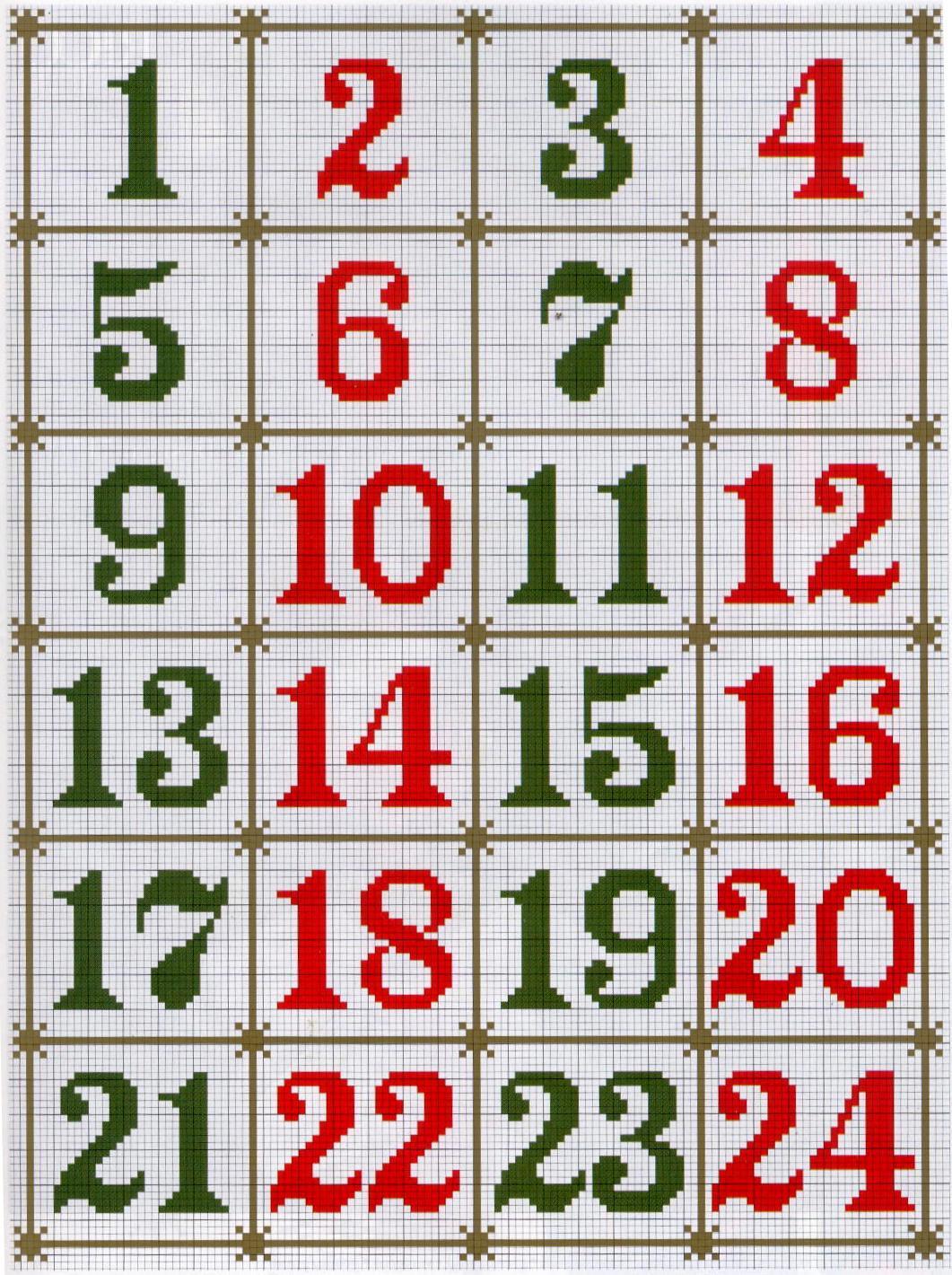 Бесплатные схемы вышивки цифр крестом