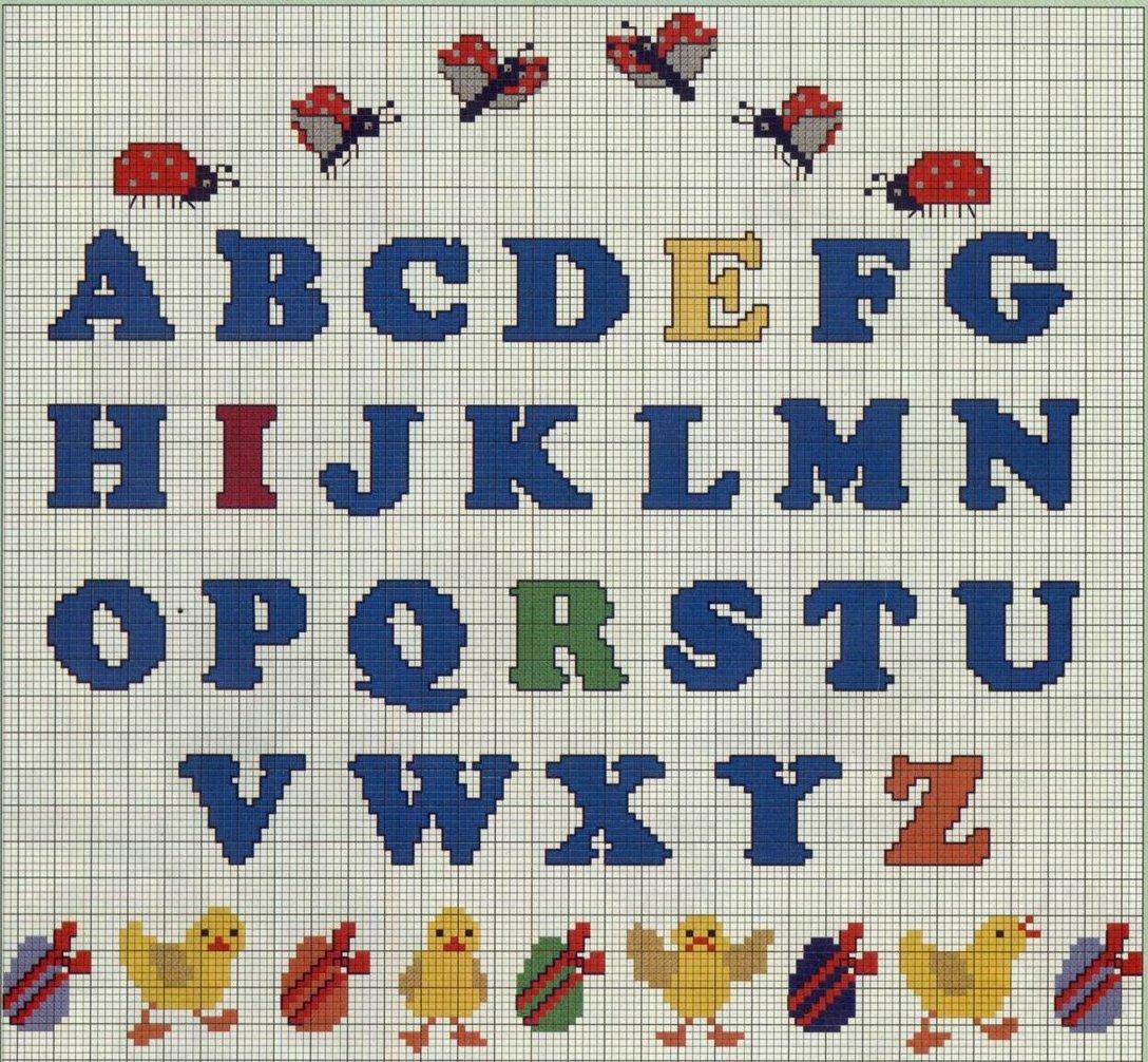 Схемы русских букв для вязания