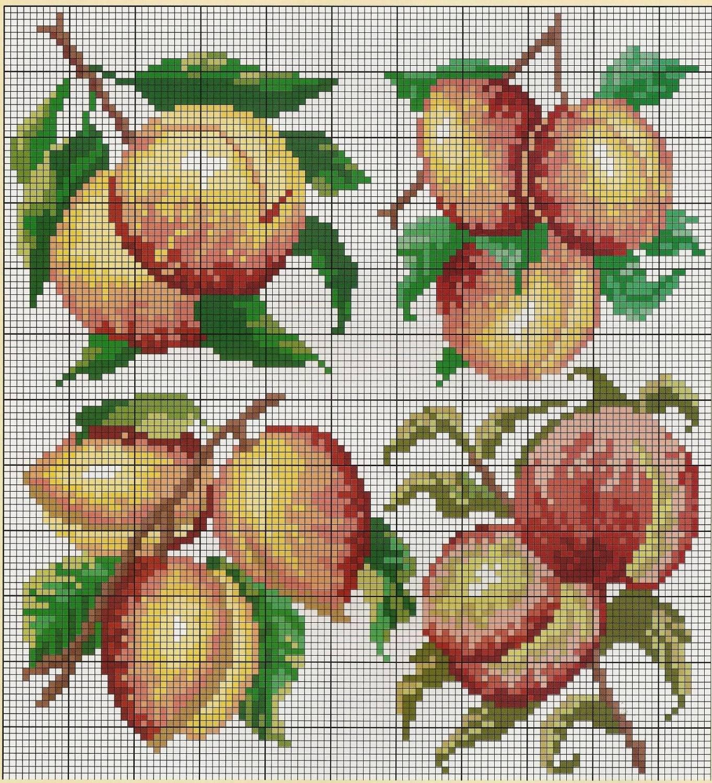 Скачать схемы вышивки персик