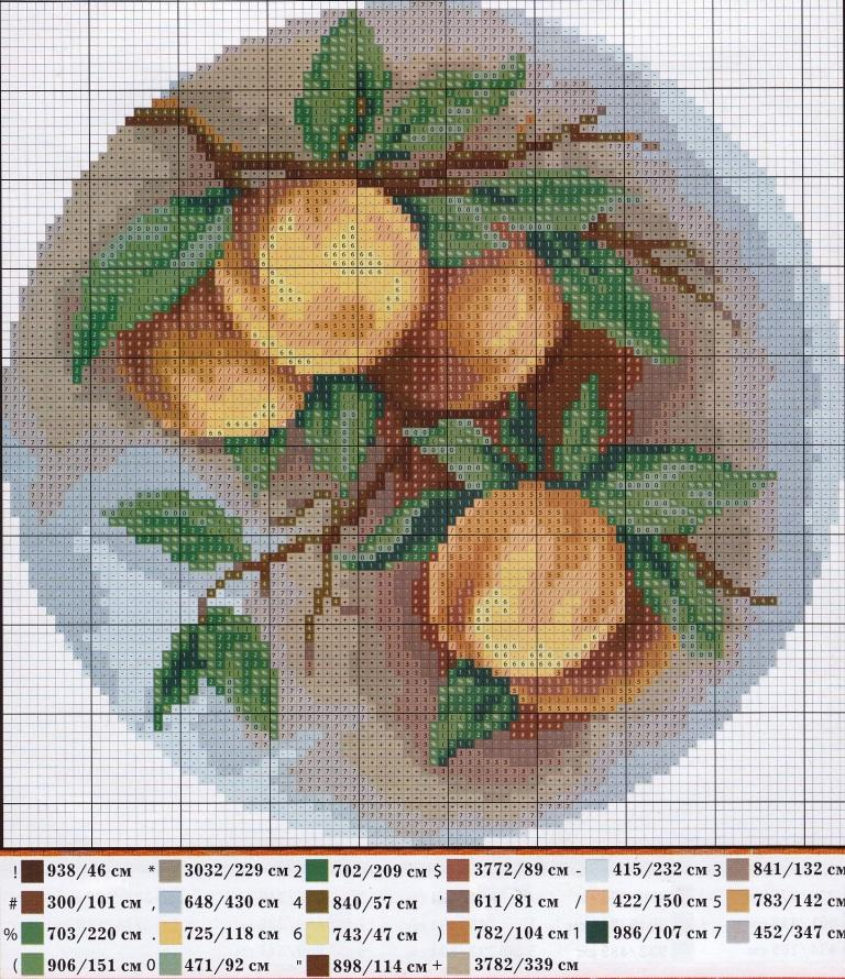 Вышивка крестом абрикос схемы 4