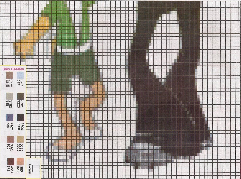 вышивание крестиком животных схема картинки панда