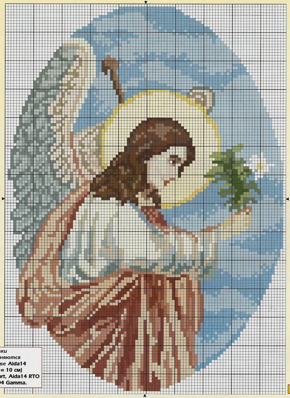 Схема вышивки крестом: ангелы скачать бесплатно Надо 44
