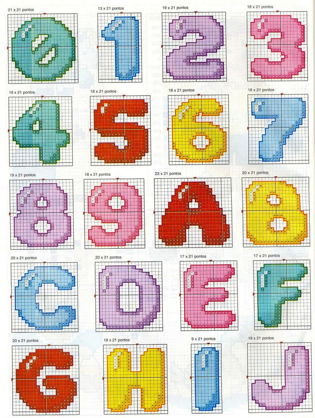Цифры в схемах по вязанию 469