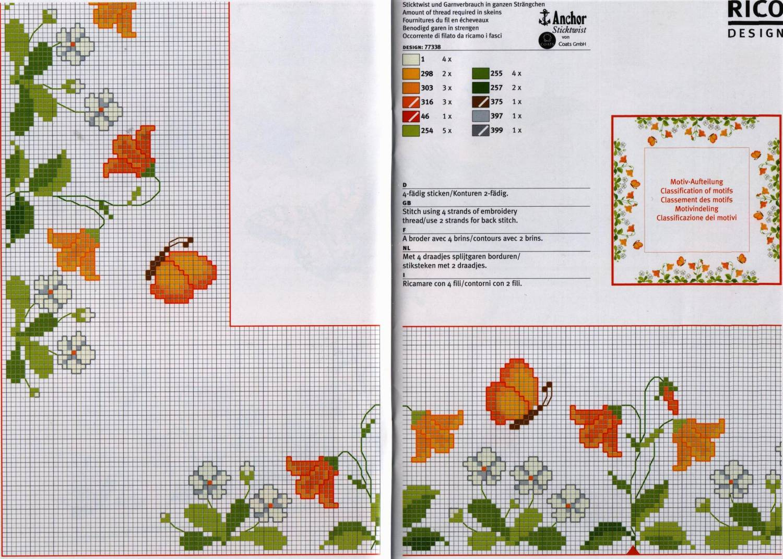 Схемы вышивок на скатерти 4