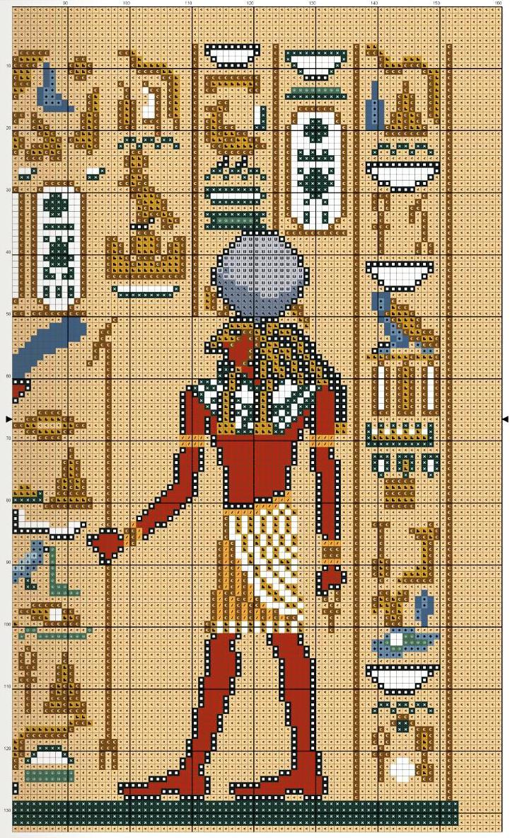 Египет схема вышивки крестом 7