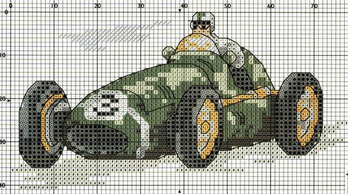 Схема вышивки бисером автомобиль