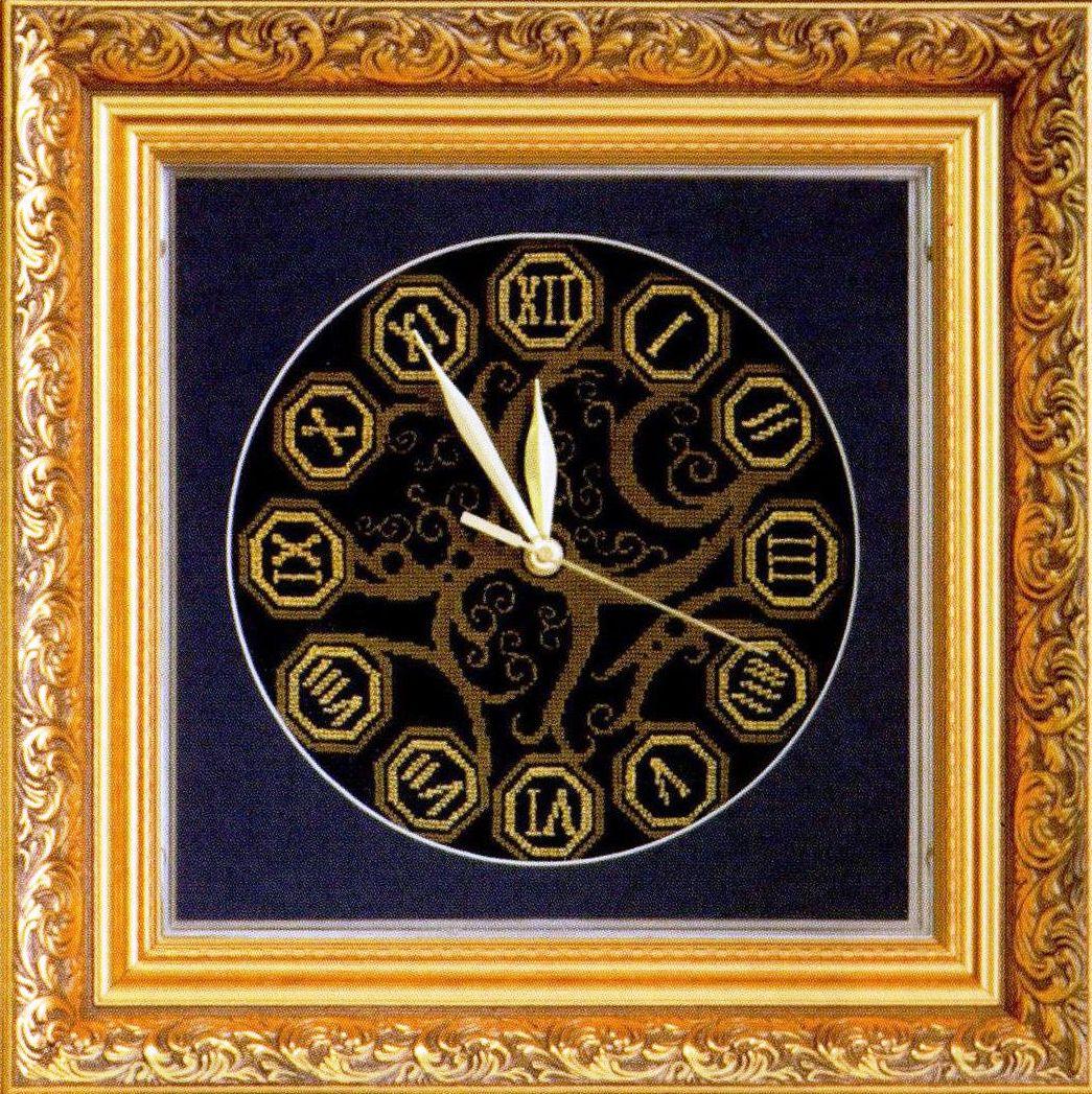 Вышивка часы