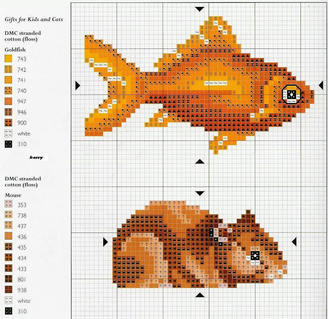 Морская свинка схема для вышивки
