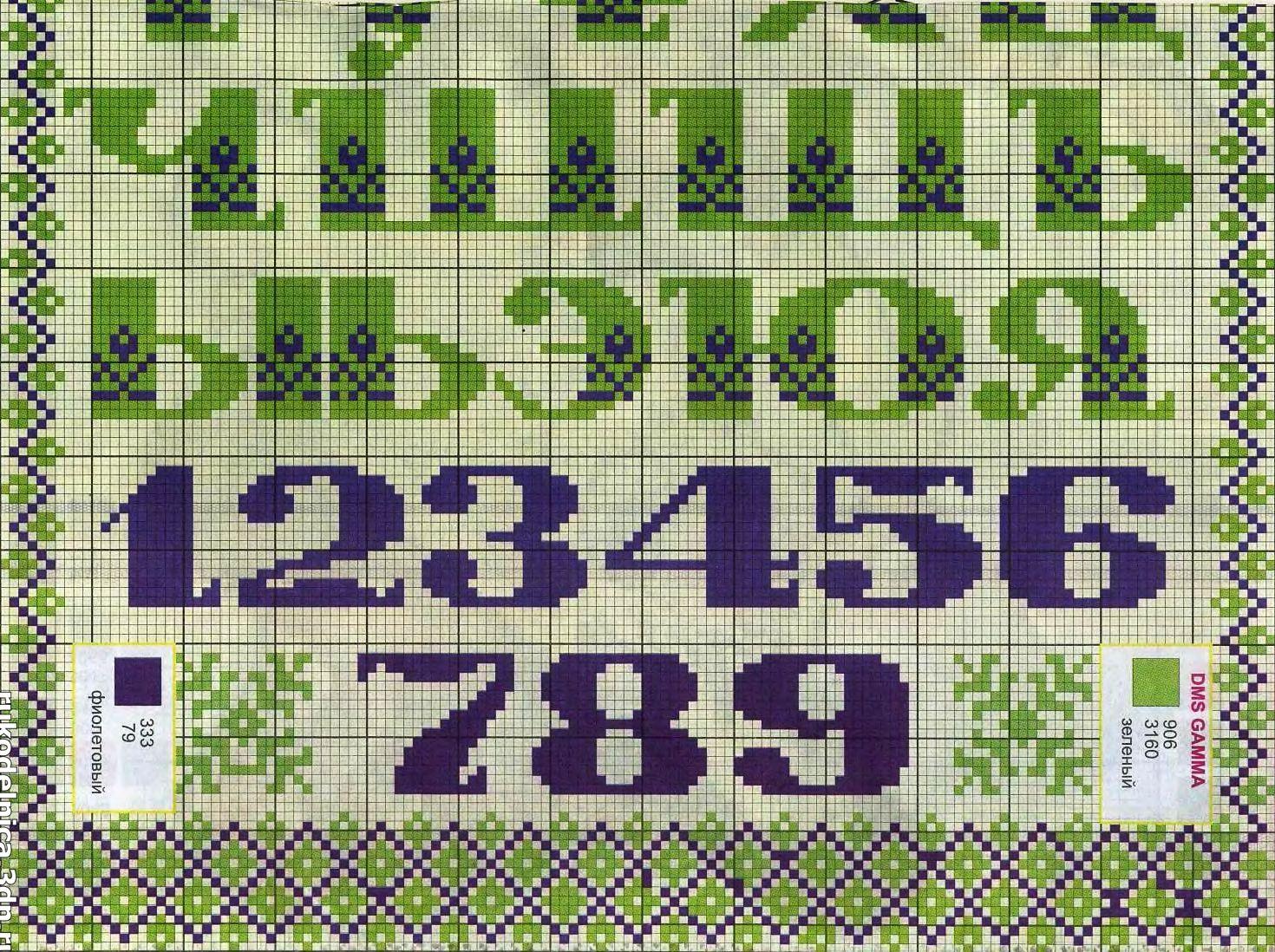 Веселые буквы-человечки для вышивки крестом