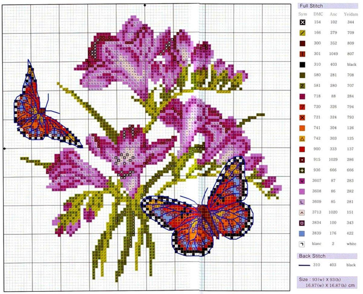 Вышивка картинок цветы