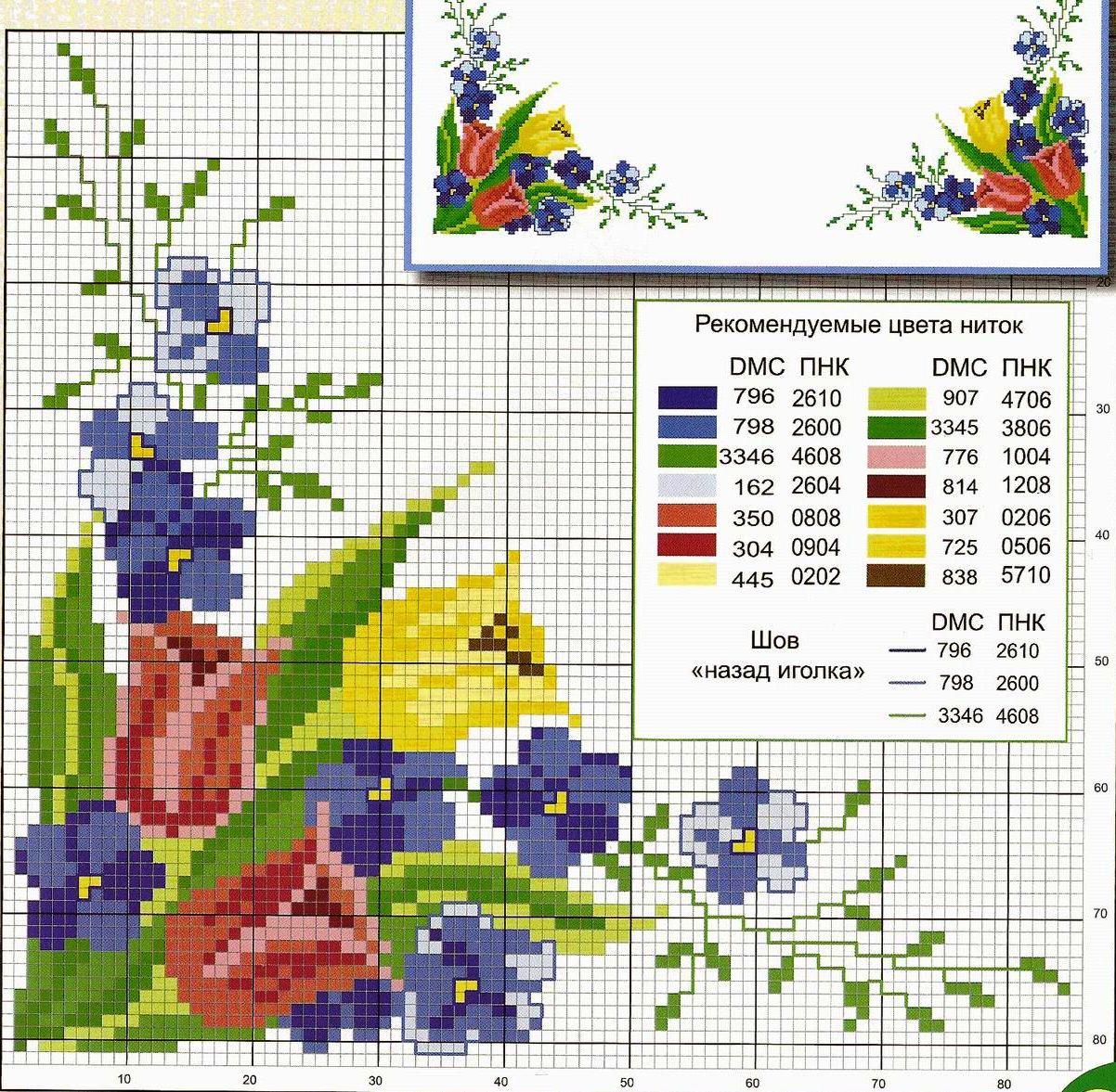 Схемы вышивки крестом в pdf формате 87