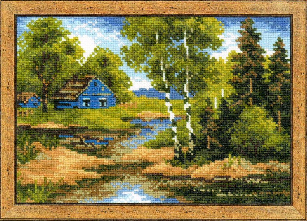 """Набор для вышивания  """"Летний домик """" - Интернет магазин, наборы +для вышивания, наборы +для вышивания крестиком, наборы..."""