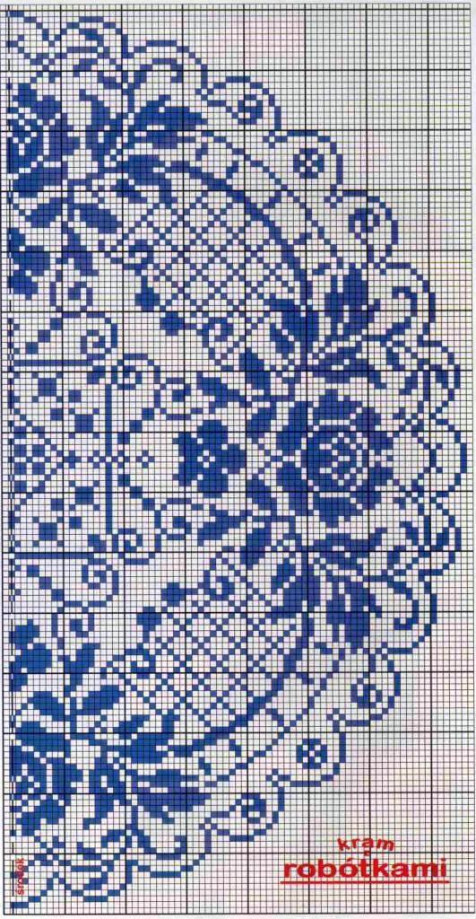 Схемы вышивки бисером гжель схемы