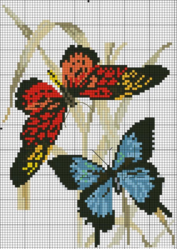 Бабочка из бисера схема фото 531