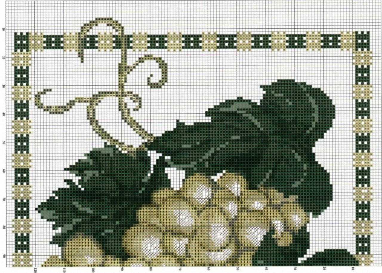 Схемы вышивки винограда крестиком 62