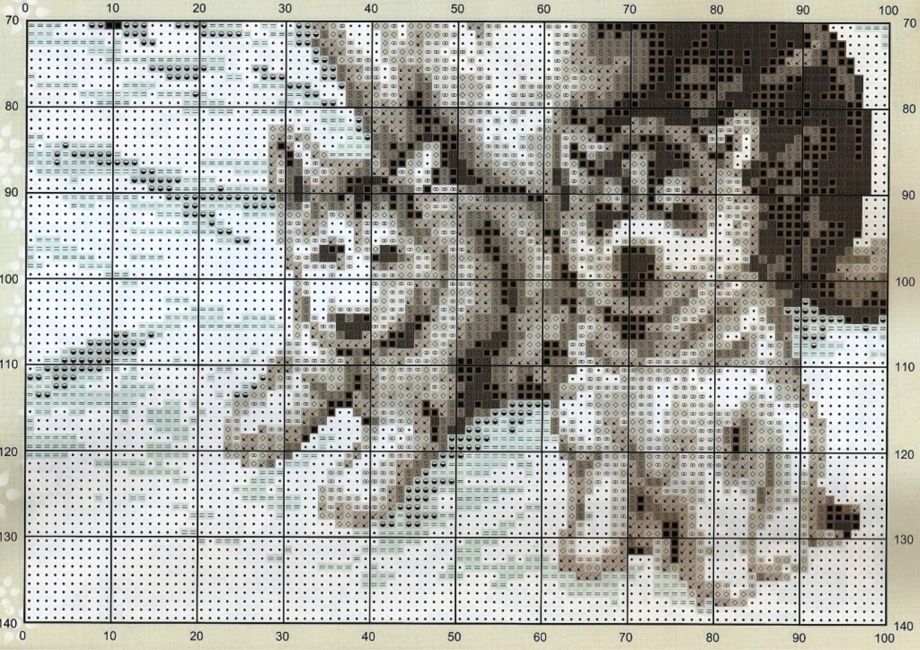 Вышивка крестиками схемы волки 776