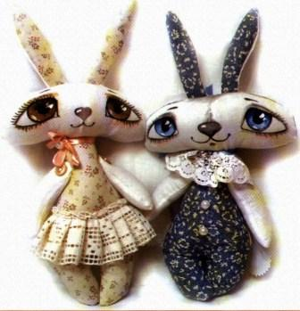 Текстильная игрушка, заяц. 35